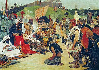 350px-S._V._Ivanov._Trade_negotiations_in_the_country_of_Eastern_Slavs._Pictures_of_Russian_history._(1909)